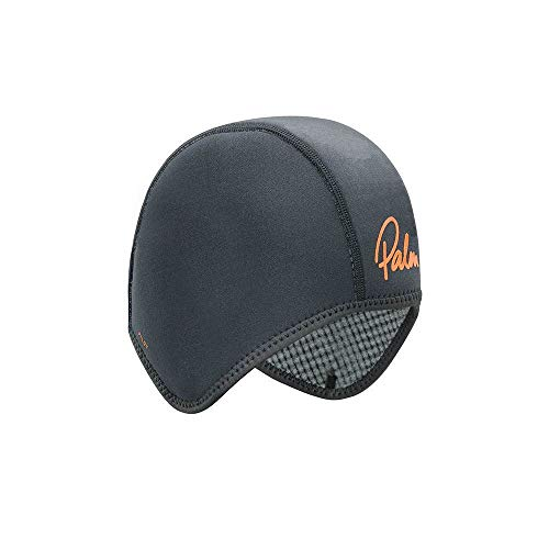 Palm Kayak oder Kayaking - 2mm Pilot Cap Hat - Jet Grey - Thermisch warme Wärmeschichtschichten Quick Dry