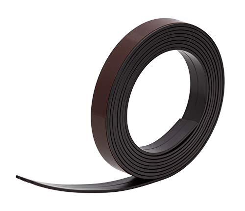 Magneetband eenzijdig zelfklevend - breedte 19,0 x 1,5 mm, achterkant met kleeffilm, met schaar op maat te knippen, hecht op alle metalen oppervlakken