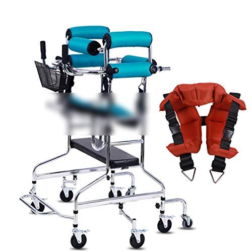MLKARDUT inklapbare walker, lichte luxe walker met 8 wielen, in hoogte verstelbare seniorentrainer voor de onderste ledematen