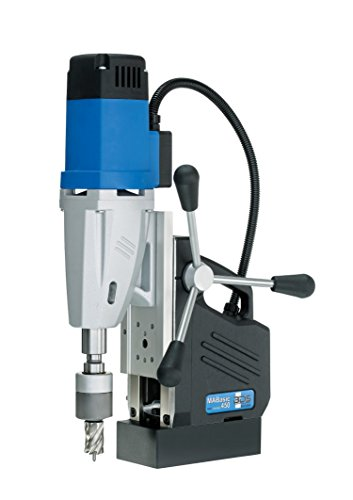 """CS Unitec MABasic 450 Portable Magnetic Drill Press: 2-Speed, MT2, Drills up to 1-3/4"""" Diameter, up to 6-1/3"""" Depth of Cut, 1150W, Best Power to Weight Ratio, Electronic Safety Shutoff"""