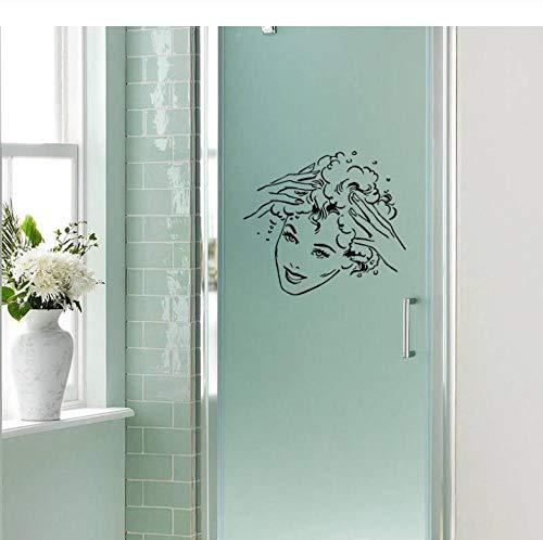 Liafa 24X26.6Cm Bathroom Shampoo Decal Decoration Home Bedroom Kitchen Wall Sticker Party Wanddeko Layer Aufkleber