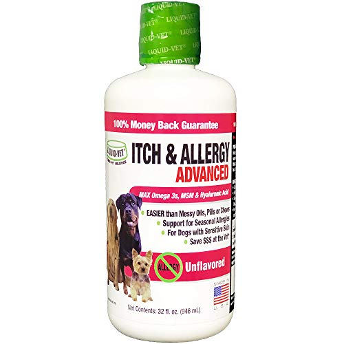 Liquid-Vet by COOL PET Holistics K9 Itch & Allergy Advanced Formula, Plain, 32 oz