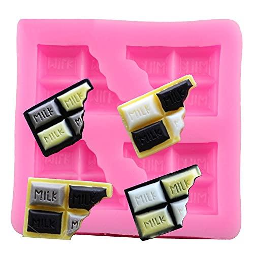 HAOBU Moldes Silicona reposteria Biscuit Chocolate Molde de Silicona Fondant Herramientas de decoración de Pasteles DIY Candy Polymer Cholles de Arcilla