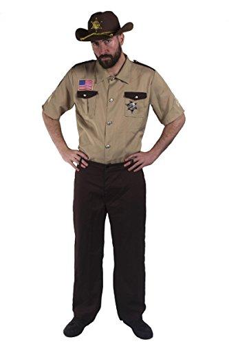 ILOVEFANCYDRESS - Disfraz de sheriff americano (camiseta, pantalones y placa de sheriff)