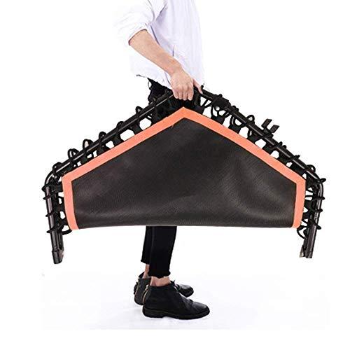 UIZSDIUZ Trampolín Plegable con reposabrazos for Adultos y niños Pérdida de Peso Equipo de Interior/Exterior Fitness, aeróbic Bouncing Cama 45 Pulgadas