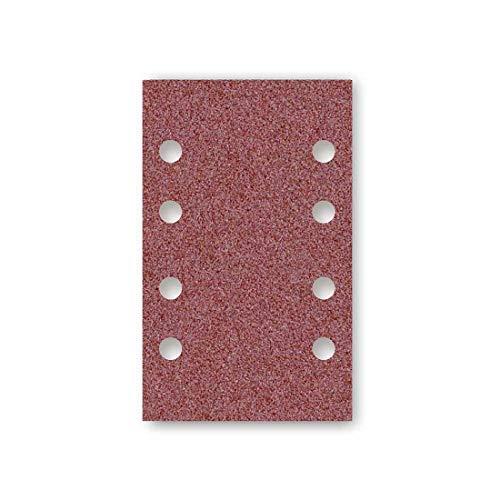 MENZER Red Klett-Schleifblätter, 133 x 80 mm, 8-Loch, Korn 80, f. Schwingschleifer, Normalkorund (50 Stk.)