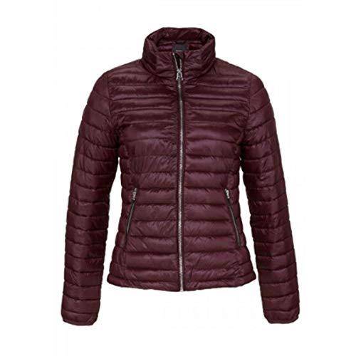 BROADWAY NYC FASHION Übergangsjacke Jacke glänzende Damen Steppjacke mit Stehkragen Outdoor Bordeaux, Größenauswahl:XL