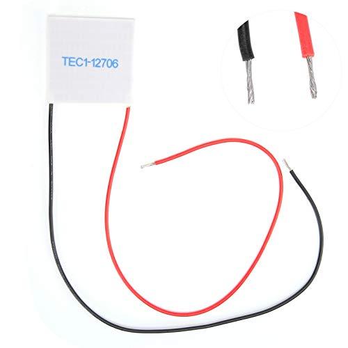 Dispositivo di Raffreddamento Termoelettrico con Dissipatore di Calore, TEC1-12706 12V 6A 40x40mm Compresse di Refrigerazione a Semiconduttore Modulo Piastra Fredda Termoelettrica in Ceramica