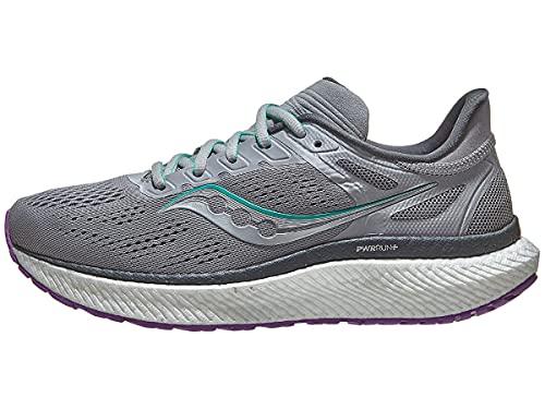 Saucony Womens Running Shoes, W Hurricane 23 - Fog/Ultraviolet, 7.5
