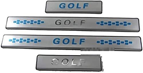 4 Pcs Coche Acero Inoxidable Decoración para estribos para VW Golf 6 Golf 7 2014, Antiarañazos Antideslizante Sticker Accesorios De DecoracióN