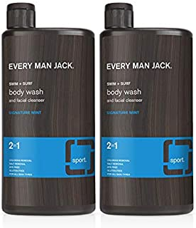 Every Man Jack Body Wash, Swim + Surf, 16.9-ounce (TWIN PACK)