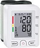 Blood Pressure Monitor Wrist BP Cuff Automatic Accurate Blood Pressure Machine with Carrying Case 2 Users 180 Memory Readings Large Display Screen and Irregular Heartbeat Detector for Home Use (White)