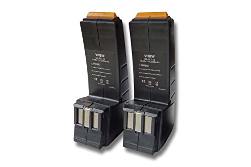 vhbw Sparset 2x Ni-MH Akku 2100mAh (12V) für Werkzeuge Festo Festool CCD12MH, CCD12v, CDD12, CDD12E, CDD12ES, CDD12ESC, CDD12FX, CDD12MH, CCD12ES-C