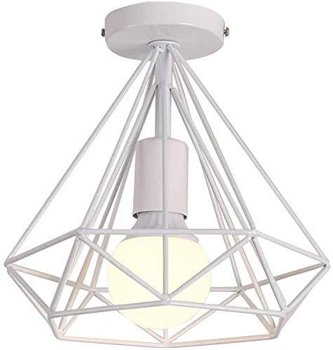 Lámpara de techo de oficina, lámpara de techo, lámpara de techo, lámpara de techo retro con forma de diamante para dormitorio, lámpara de techo rústica para salón, cocina, bar, cimientos (B)