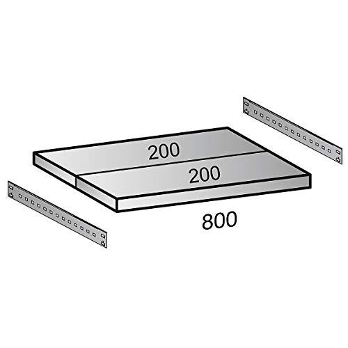 Mauser Tablette - pour l x p armoire 1600 x 500 mm, lot de 2 - noir - accessoires armoire à portes coulissantes armoires à portes coulissantes tablette tablette supplémentaire tablettes Accessoire