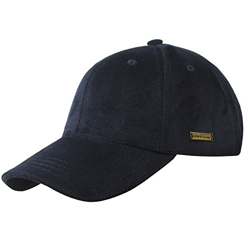 Sidiou Group Berretto Nuovo da Baseball in Autunno & Inverno per Uomo Berretto alla Moda Cappello Caldo di Cotone & Velluto Cappello Casuale all'aperto (Blu Navy)