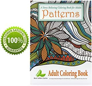 Adult Coloring Book for Men Women Teens and Seniors Paperback Book Promotes Relaxation Focus Inspiration with Stress Relieving Easy Patterns of Flowers Mandalas Fun Geometric Designs for Art Therapy