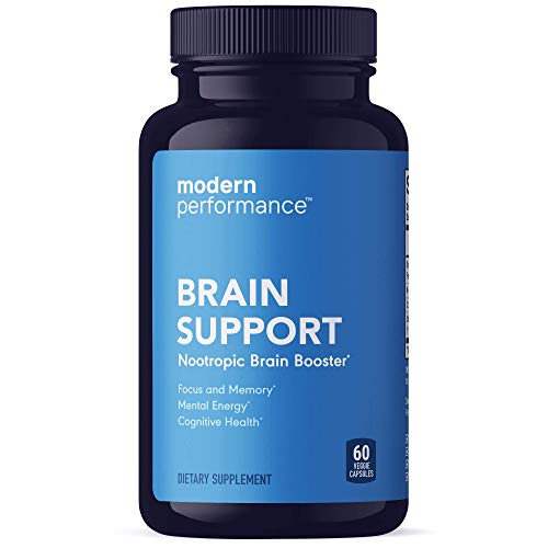 Modern Performance Brain Support - Nootropic Brain Booster Supplement - Enhance Focus and Concentration, Improve Memory, Support Cognitive Health - 60 Veggie Capsules