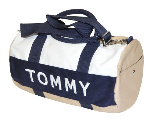 tommy hilfiger chevron duffle bag