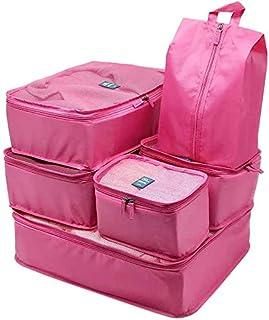 Pink 6 Pieces/Set Packing Cubes Suitcase Organizer