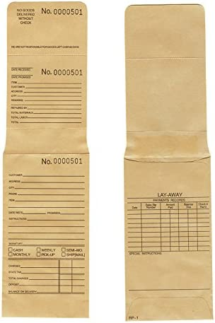 888 Display Free shipping on posting reviews Ranking TOP15 100 Jewelry Repair Envelopes Consecutive in Numbered