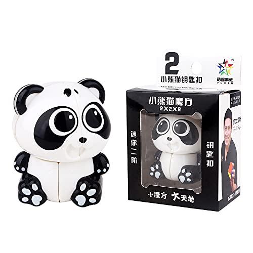Oostifun FunnyGoo Cartoon Small Panda Shape 2x2 Magic Cube Llavero de Juguete