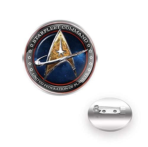 Trekkie Starfleet Command Thema Cosplay Metall Pin Badge Fan Brosche (1)