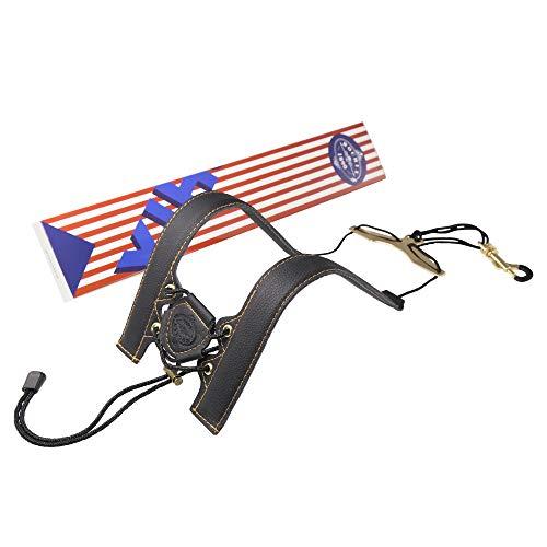 Rochix Saxophone Sax Black Double Shoulder Strap for Baritone Alto Tenor Soprano Sax,Super fiber,Metal Hook,Musical Instruments Accessories Parts