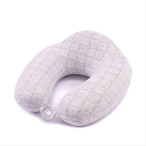 Almohada de Viaje de Apoyo para el Cuello Almohada de Memoria de algodón Almohada en Forma de U Almohada para el Cuello de la Oficina de la aeronave Almohada Especial en Forma de U