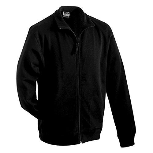 JAMES & NICHOLSON Sweat-Shirt zippé (L, Noir)