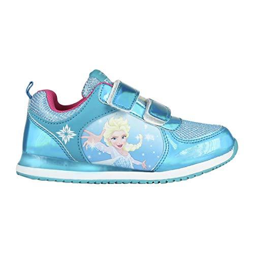 Cerdá Deportiva Luces Frozen Elsa, Zapatillas Niña, Azul (Azul C21), 29 EU