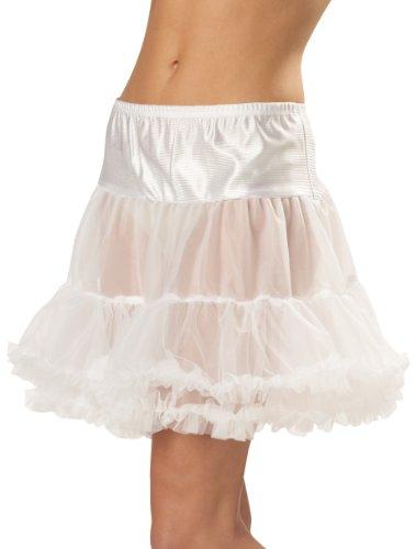 California Costumes Women's Ruffled Pettiskirt,White,Small/Medium