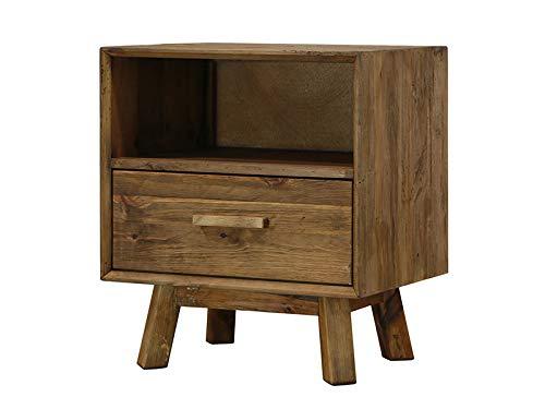 BigBuy Home nachtkastje, 55 x 45 x 62 cm, gerecycled hout, meerkleurig, eenheidsmaat