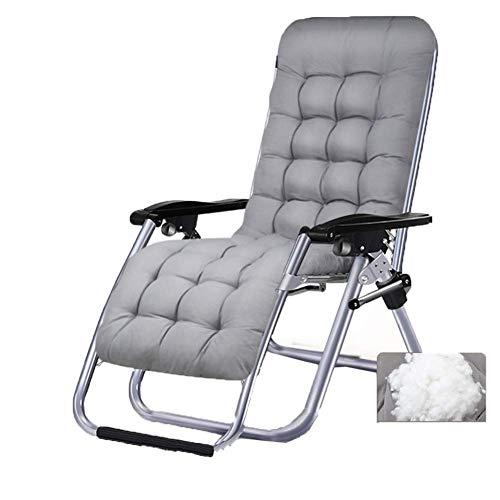 YLCJ Draagbare campingstoel, zwaartekracht liggend Relax fauteuil, perfect voor thuis/terras/terras/vakantie/strand - grijs
