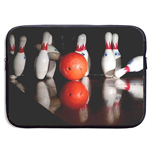 Funny Z Wasserdichte Laptop Hülle Bowling Print Business Aktentasche Schutztasche Computer Case Cover 15×11.4 Zoll