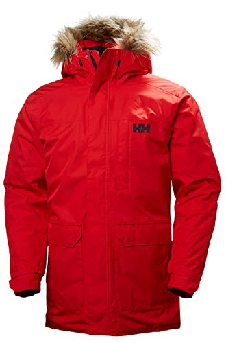 Helly Hansen Herren DUBLINER PARKA – Rot (Flag Red), Medium