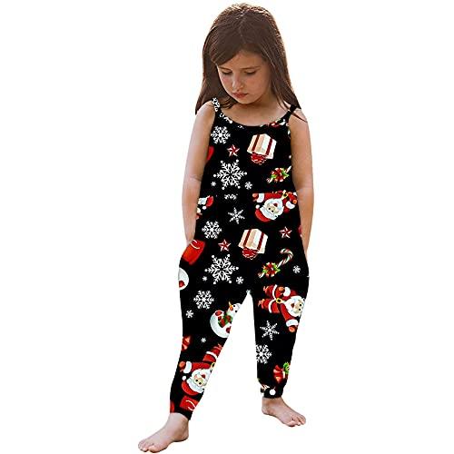 Pantalones de lluvia para niños de Halloween con dibujos animados de calabaza para niños pequeños con bolsillos, mono de dibujos animados sin mangas para niñas, Negro, 3-4 Años