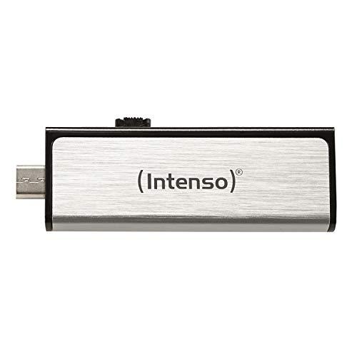 Intenso Mobile Line On-the-go 32 GB USB-Stick USB2.0 (USB und micro-USB) silber