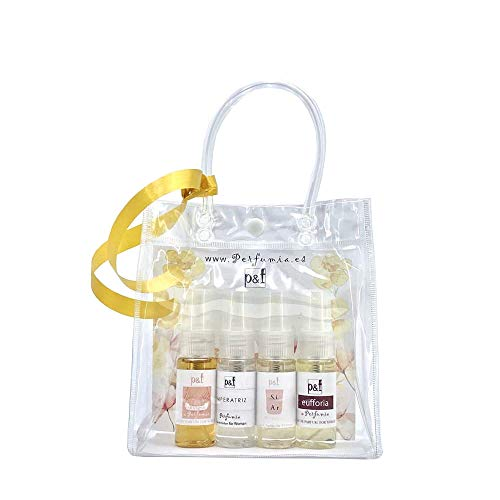 Set regalo 4 perfumes Mujer by p&f Perfumia, vaporizador (4 x 25 ml = 100 ml)