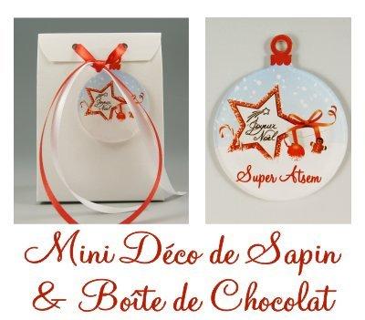 Boite de Chocolat & Déco de Sapin Joyeux Noël Super ATSEM – Cadeau de Noël