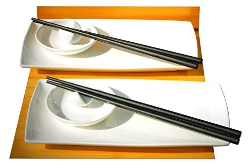 Gifts Of The Orient GOTO® - Sushi Japonés Blanco Para Dos