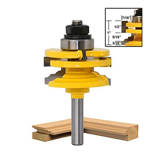 8mm Schaft Schrank Tür Router Bit Rail and Stile Oberfräsen-Bit Schneiden Holzbearbeitung Fräser