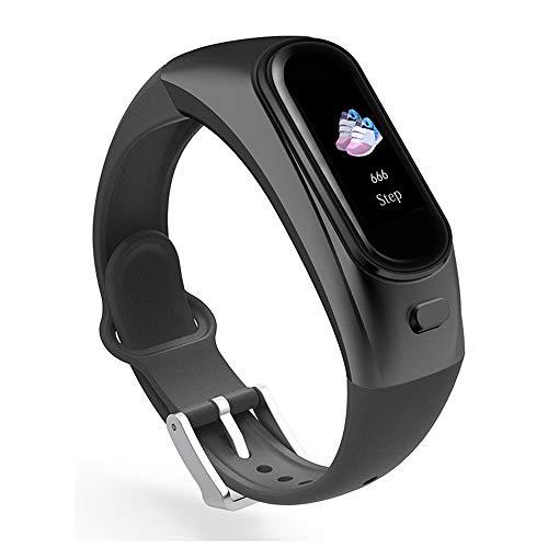 GGOII Intelligente Uhr Anrufer Bluetooth Headset Armband H109 Talk Band Farbdisplay Smart Armband 2-in-1 Separates Herzfrequenz-BlutdruckmessgerätSchwarz