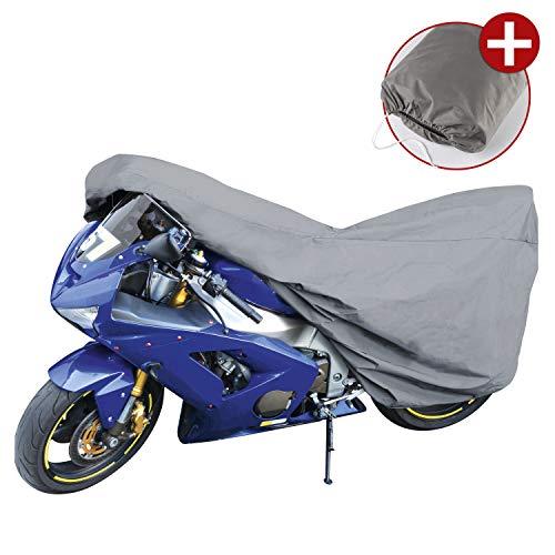 Walser 41089 Garage per moto Sport Dimensione M, Foglio di copertura in PVC - 215 x 95 x 120 cm grigio, Copertura per motocicli