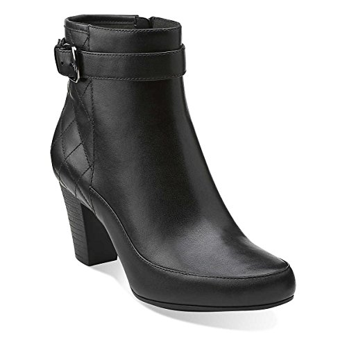 Hot Sale Clarks Women's Sapphire Cameo Boot,Black Leather,8.5 B US