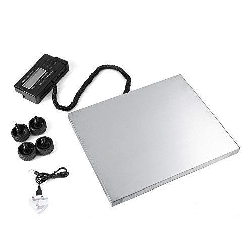 Balance industrielle - Balance postale numérique, plate-forme, imperméable, en acier inoxydable, base avec affichage déporté, poids : 150 kg/0,05 kg, 300 kg/0,1 kg