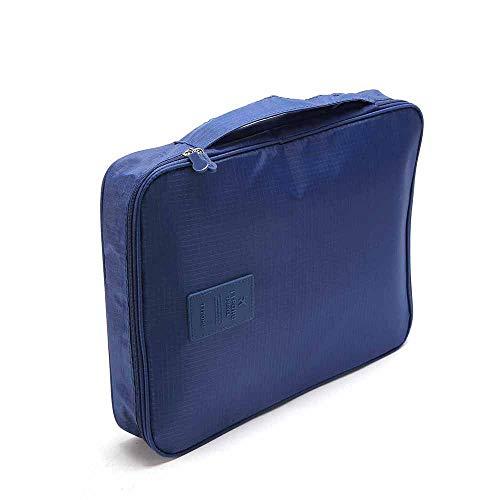 Camisa y Corbata Packing Organizador de Bolsas. Funda de Almacenamiento Impermeable Sin Arrugas. (Azul Marino)