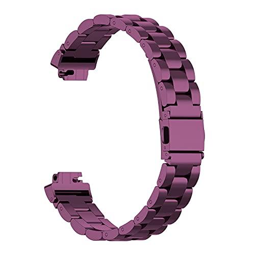 Correa de reloj inteligente compatible con Inspire/Inspire HR para parejas, correas ajustables, correa de acero inoxidable, correa de metal compatible con correas de reloj Inspire HR Gold