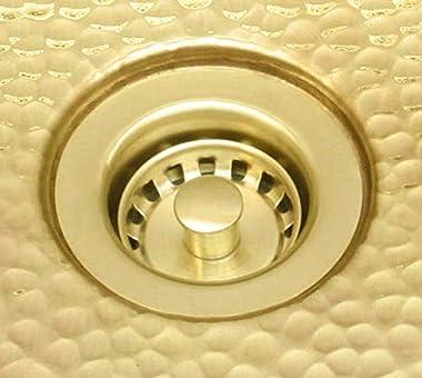Mini Round Brass Bar Sink in Matte Brass Finish + Drain - RBV10-BRASS