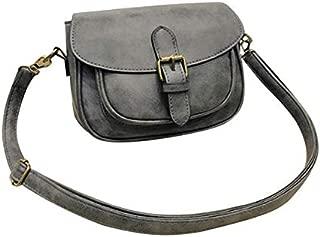 TOOGOO Women Shoulder Bag New Pu Leather Fashion Messenger Satchel Tote Crossbody Handbag Shoulder Bag(Black)